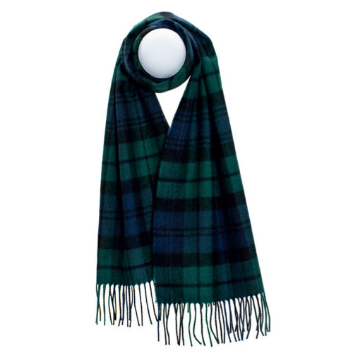Darwin Black Watch Modern Luxury Oversized Lambswool Scarf