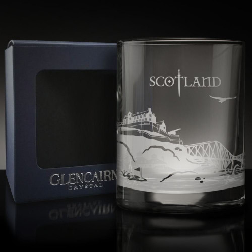 Etched Whisky Tumbler