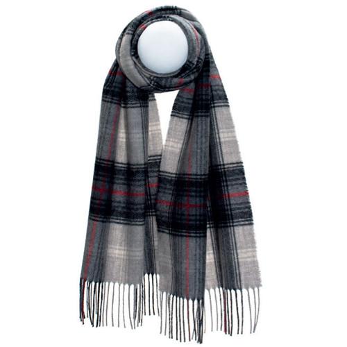 Lochcarron Graphite Darwin Luxury Oversized Lambswool Scarf