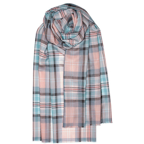DIANA, PRINCESS OF WALES MEMORIAL ROSE TARTAN EXTRA FINE MERINO STOLE