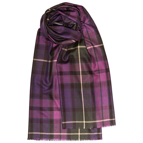 BUCHANAN HEATHER EXTRA FINE MERINO STOLE