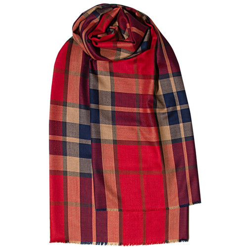 THOMPSON RED ANTIQUE EXTRA FINE MERINO STOLE