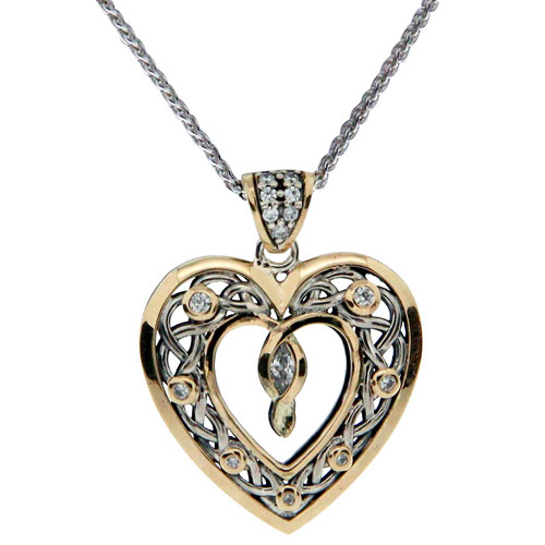 Stirling Sliver Heart Necklace