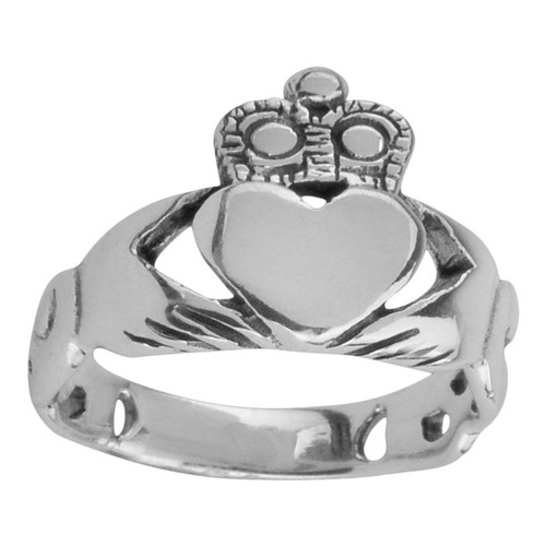 Celtic Claddagh Silver Ring