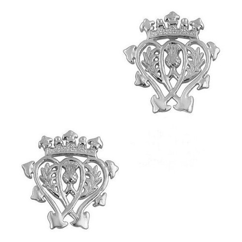 SCOTTISH LUCKENBOOTH SILVER STUD EARRINGS