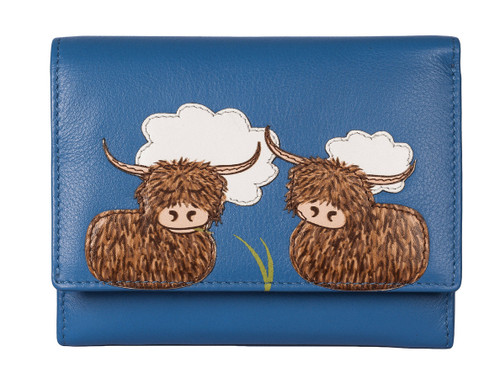 Bella Highland Cow Compact Purse