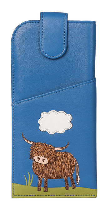 Bella Highland Cow Glasses Case
