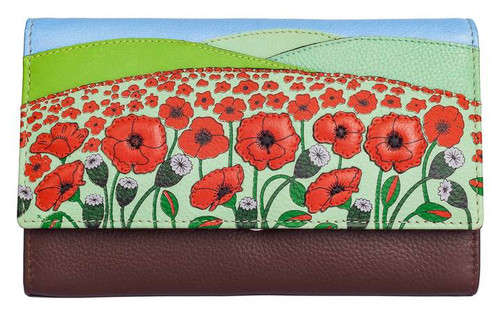 The Poppy Fields Leather Flap Over Purse