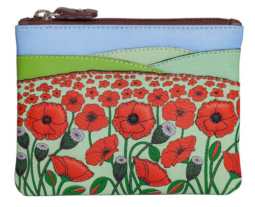 The Poppy Fields Leather Coin Purse