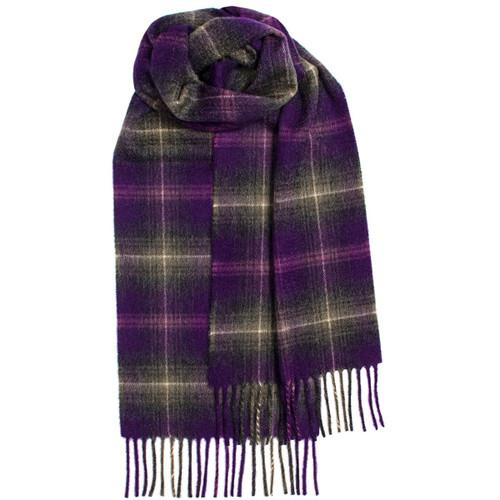 Lochcarron Heather Tartan Luxury Cashmere Scarf