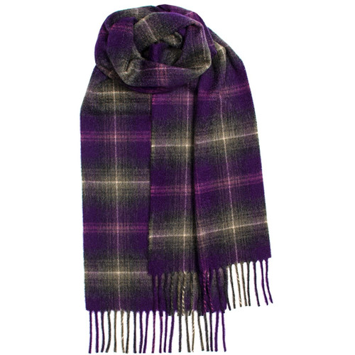 Lochcarron Heather Tartan Luxury Cashmere Scarf