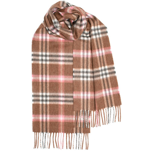 Elie Rose Check Luxury Cashmere Scarf