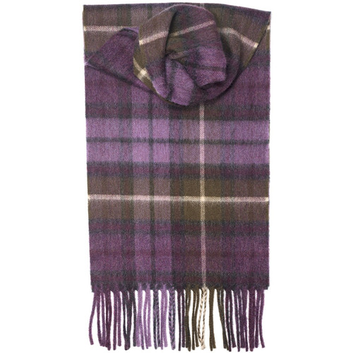 Buchanan Heather Tartan Luxury Cashmere Scarf