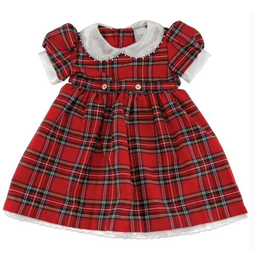 Tartan Dress with Belt Ties Royal Stewart