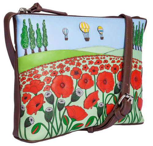The Poppy Fields Leather Midi Cross Body Bag