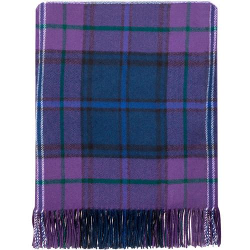Scotland Forever Modern Tartan Lambswool Blanket