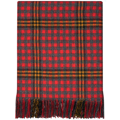 Red Red Rose Tartan Lambswool Blanket