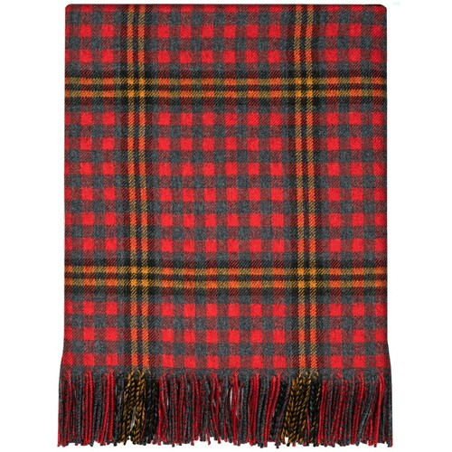 Red Red Rose Tartan Lambswool Blanket