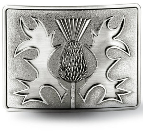 Gunmetal Thistle Belt Buckle