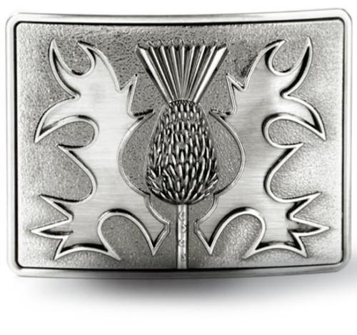 Gunmetal Thistle Belt Buckle