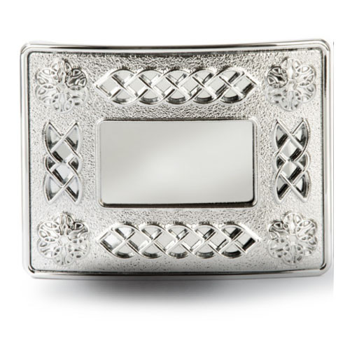 Celtic Chrome Belt Buckle