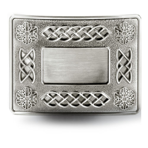 Celtic Gunmetal Belt Buckle