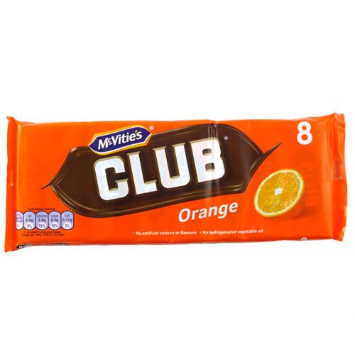 McVities Club Orange Biscuits 8 pack