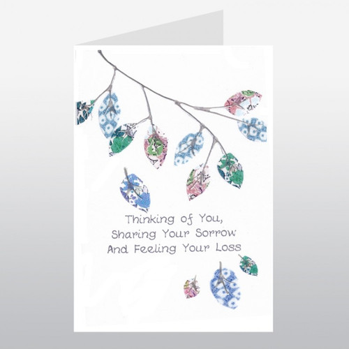 Sympathy Card Leafy Branch