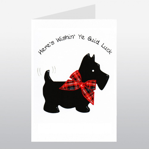 Scottish Greetings Card Large Scotty Guid Luck