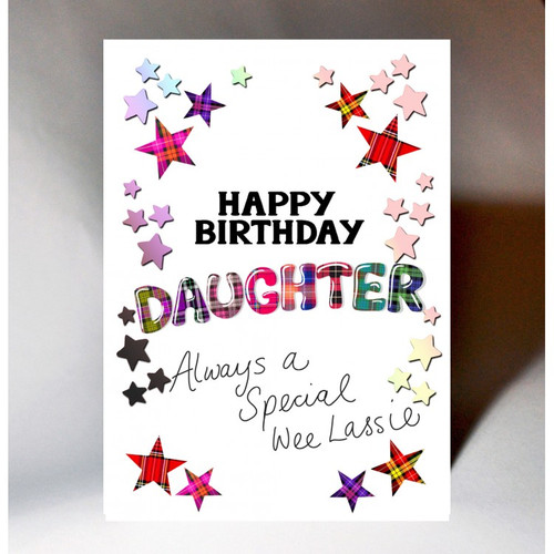 Tartan Words Card Daughter