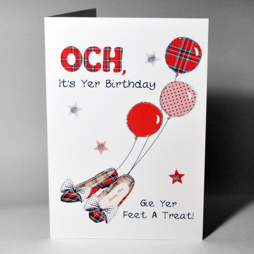 Scottish Birthday Card Shoes