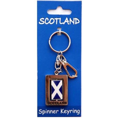 Scottish Flag Spinner KeyRing
