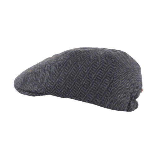 Tweed Duck Bill Panel Cap – Blue Herringbone