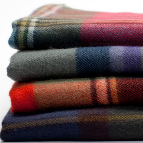 Ruby Tartan Lambswool Blanket
