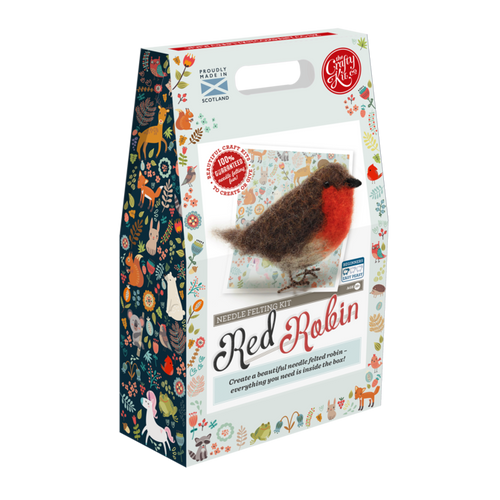 Needle Felting Kit Red Robin