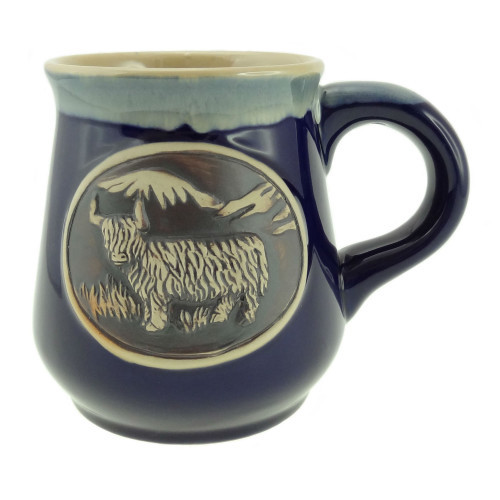 Stoneware Mug with Highland Cow