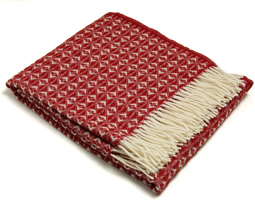 Tweedmill Textiles | Pure New Wool Throw Red