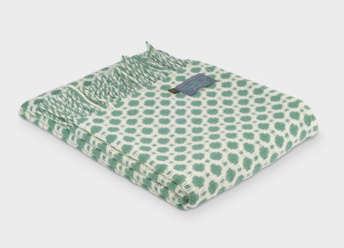Tweedmill Textiles | Pure New Wool Throw Sea Green