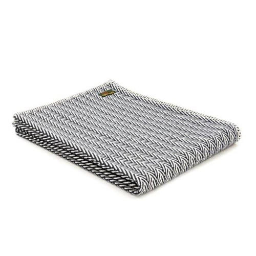 Tweedmill Textiles Organic Cotton Throw Navy