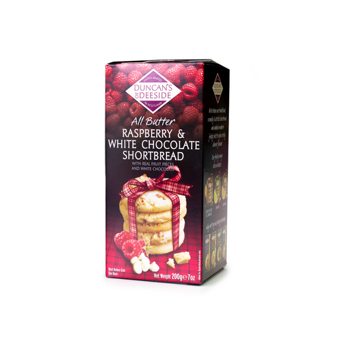 Duncan's of Deeside Raspberry & White Chocolate Shortbread