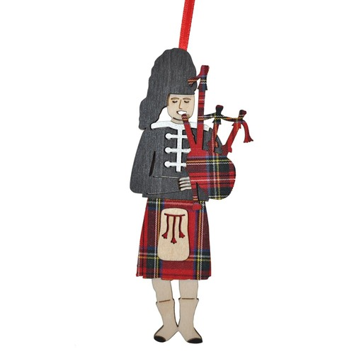 Royal Stewart 3-D Piper Ornament