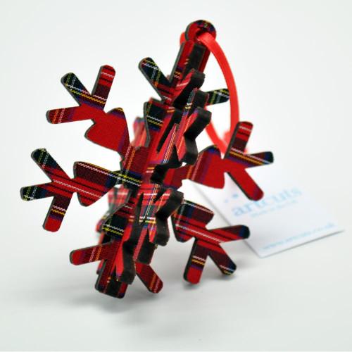 Royal Stewart 3-D Snowflake Ornament