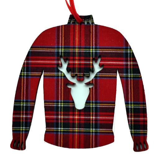 Royal Stewart Sweater Ornament