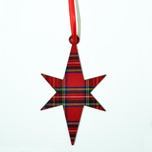 Royal Stewart Star Ornament