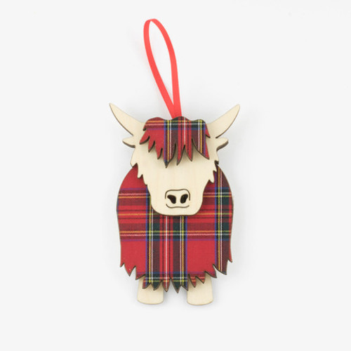 Royal Stewart Hamish the Highland Cow Ornamen