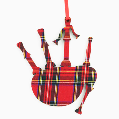 Royal Stewart Bagpipes Ornament