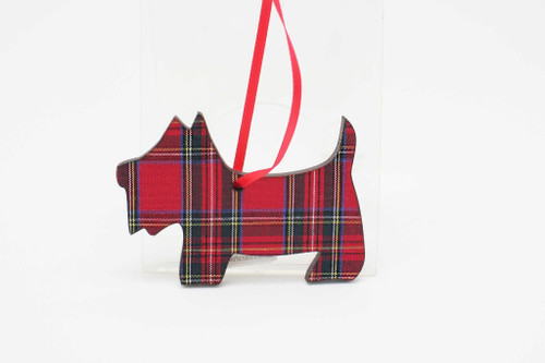 Royal Stewart Scottie Dog Ornament