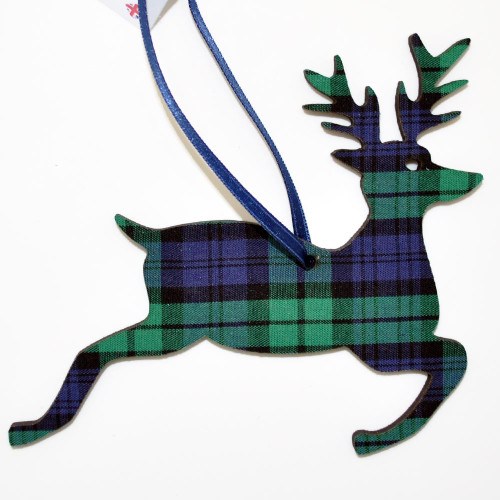 Black Watch Jumping Stag Ornament