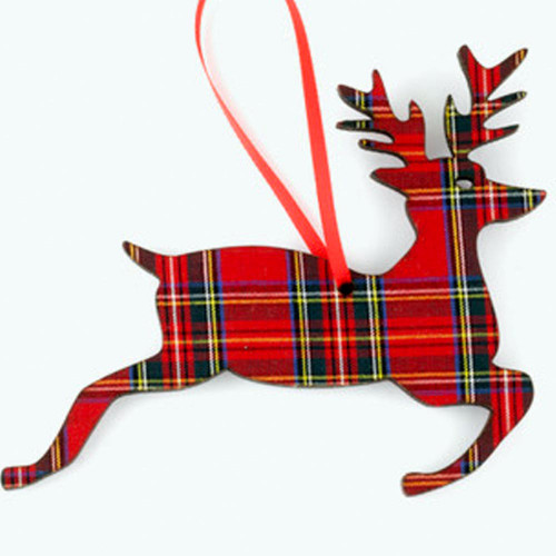 Royal Stewart Jumping Stag Ornament