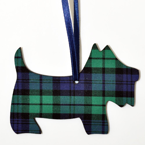 Black Watch Scottie Dog Ornament